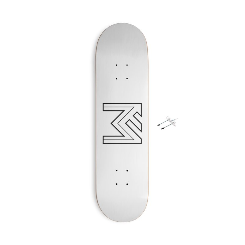 Black on White Logo Accessories With Hanging Hardware Skateboard by MerlotEmbargo's Artist Shop