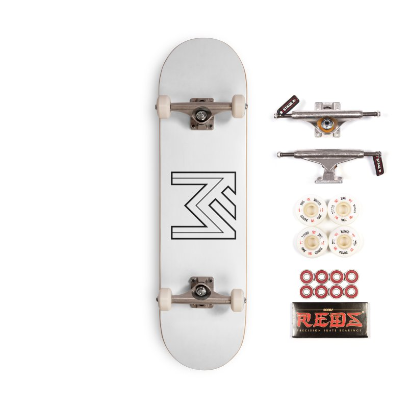Black on White Logo Accessories Complete - Pro Skateboard by MerlotEmbargo's Artist Shop