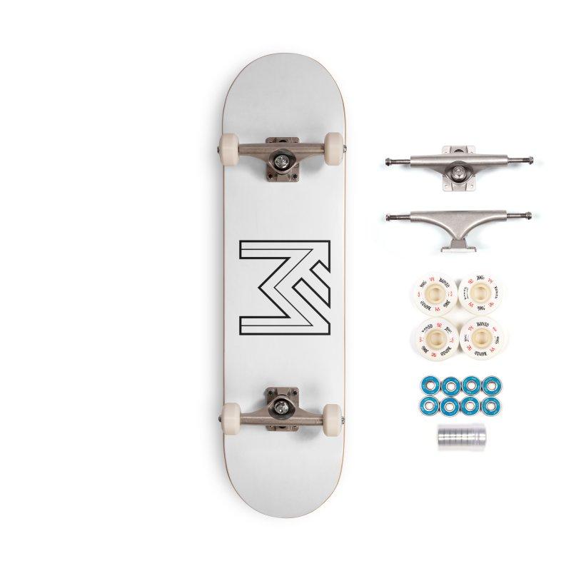 Black on White Logo Accessories Complete - Premium Skateboard by MerlotEmbargo's Artist Shop