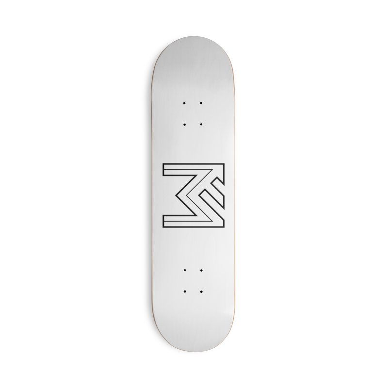 Black on White Logo Accessories Deck Only Skateboard by MerlotEmbargo's Artist Shop