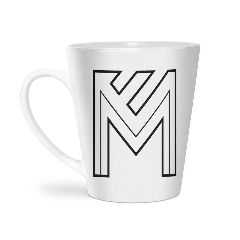 Black on White Logo Accessories Latte Mug by MerlotEmbargo's Artist Shop