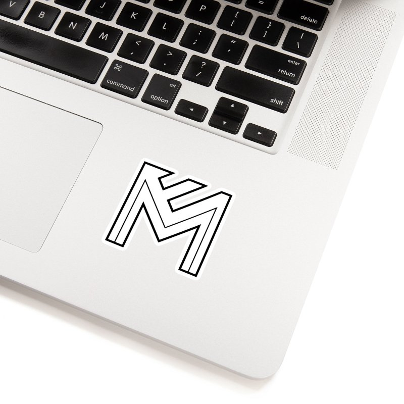 Black on White Logo Accessories Sticker by MerlotEmbargo's Artist Shop