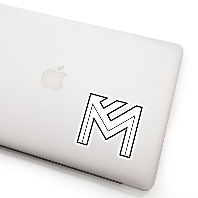 Black on White Logo Accessories Sticker by MerlotEmbargo's Artist Shop