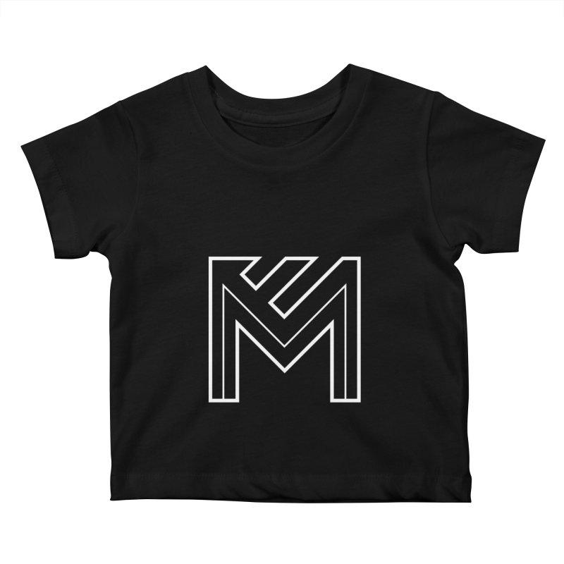 White on Black Merlot Embargo Logo Kids Baby T-Shirt by MerlotEmbargo's Artist Shop