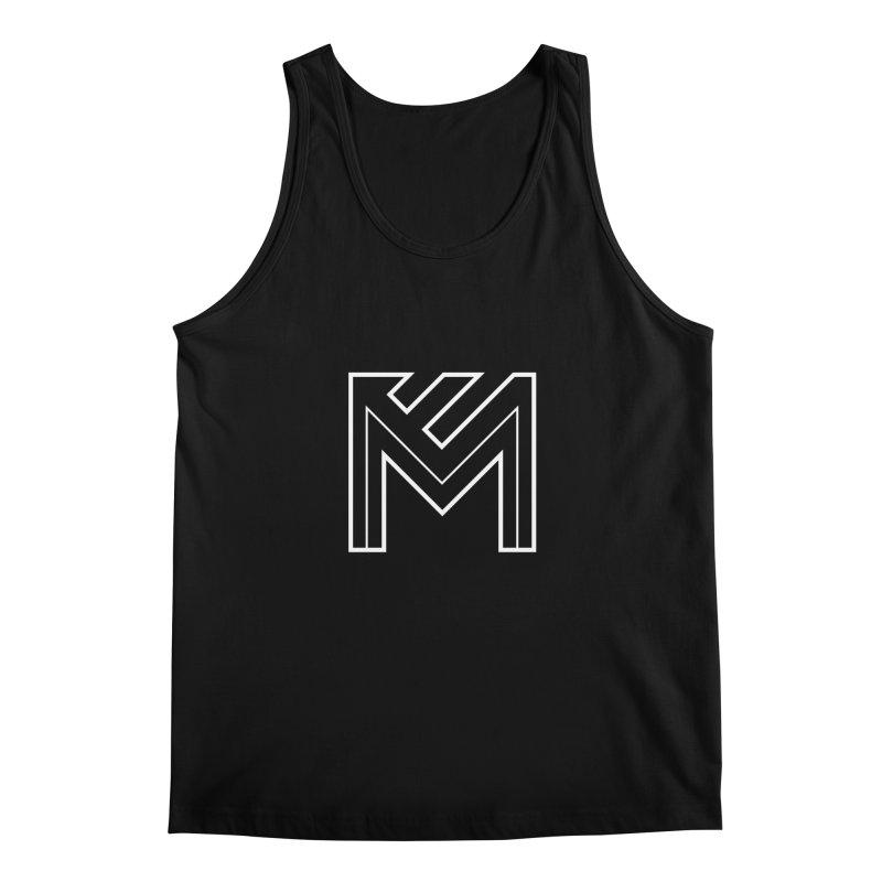 White on Black Merlot Embargo Logo Men's Regular Tank by MerlotEmbargo's Artist Shop