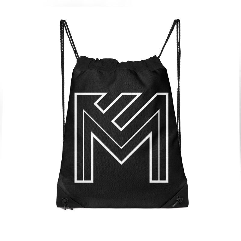 White on Black Merlot Embargo Logo Accessories Drawstring Bag Bag by MerlotEmbargo's Artist Shop