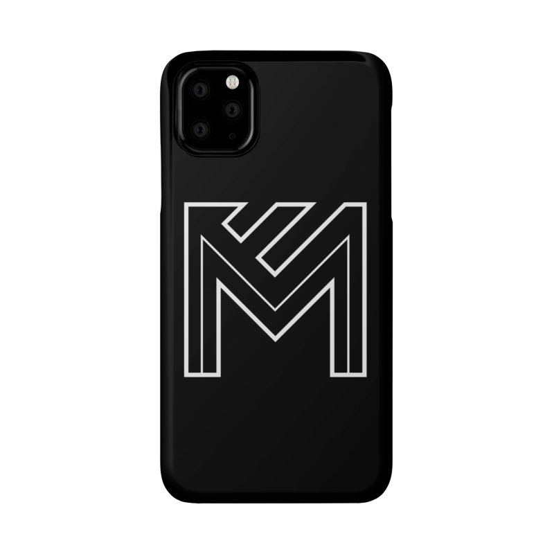 White on Black Merlot Embargo Logo Accessories Phone Case by MerlotEmbargo's Artist Shop