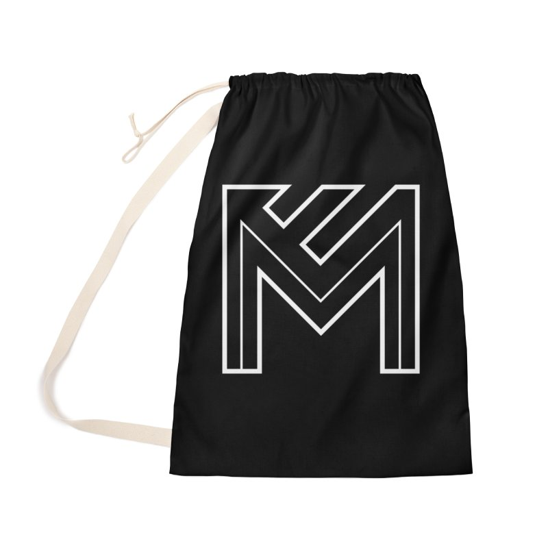 White on Black Merlot Embargo Logo Accessories Bag by MerlotEmbargo's Artist Shop