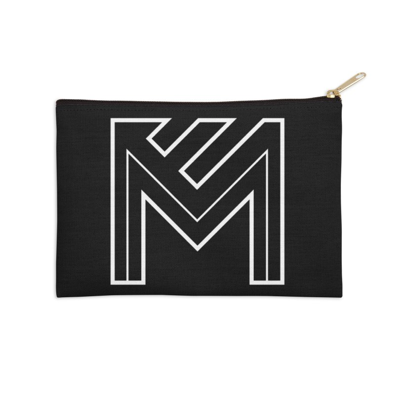 White on Black Merlot Embargo Logo Accessories Zip Pouch by MerlotEmbargo's Artist Shop