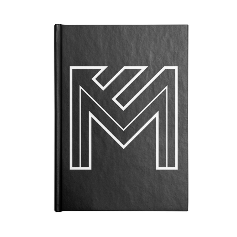 White on Black Merlot Embargo Logo Accessories Lined Journal Notebook by MerlotEmbargo's Artist Shop