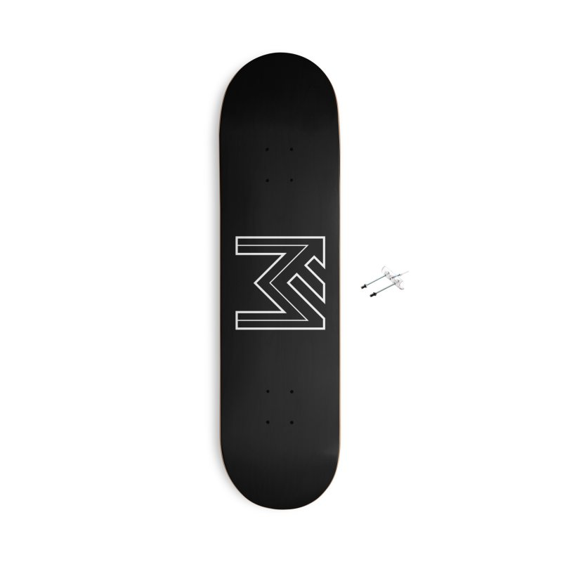White on Black Merlot Embargo Logo Accessories Skateboard by MerlotEmbargo's Artist Shop