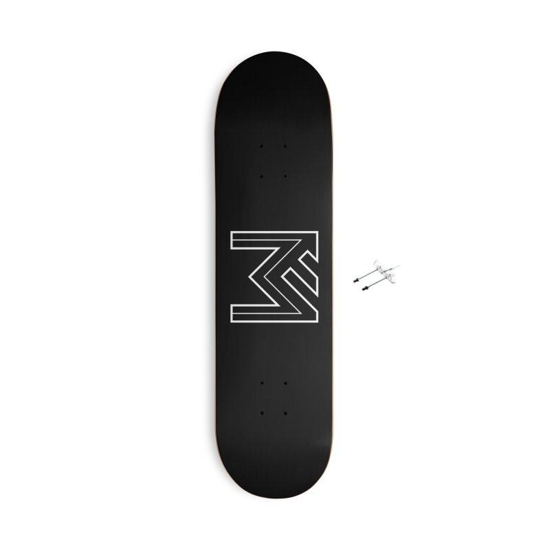 White on Black Merlot Embargo Logo Accessories With Hanging Hardware Skateboard by MerlotEmbargo's Artist Shop