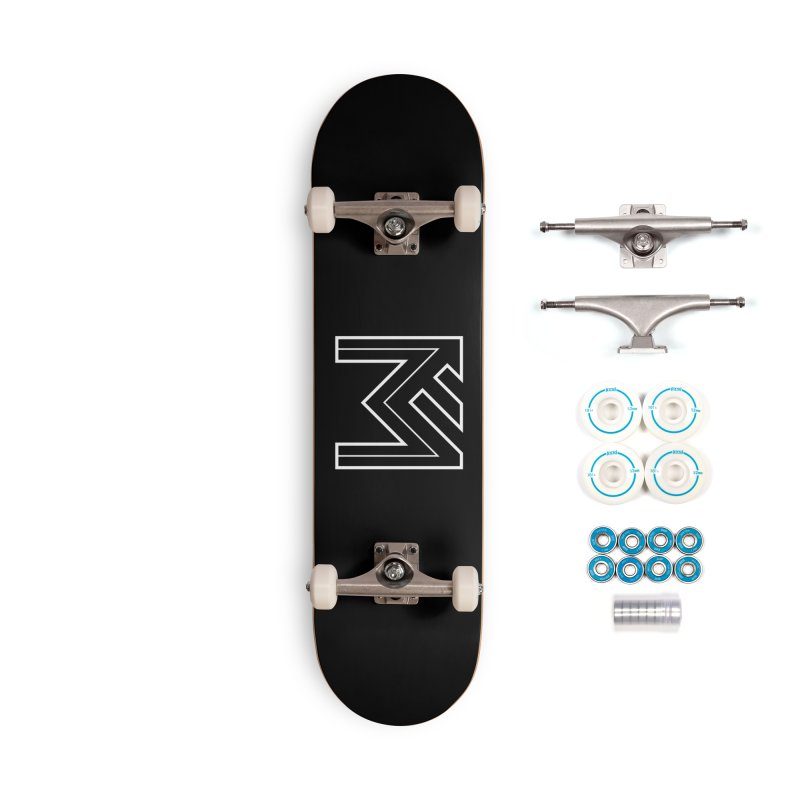 White on Black Merlot Embargo Logo Accessories Complete - Basic Skateboard by MerlotEmbargo's Artist Shop