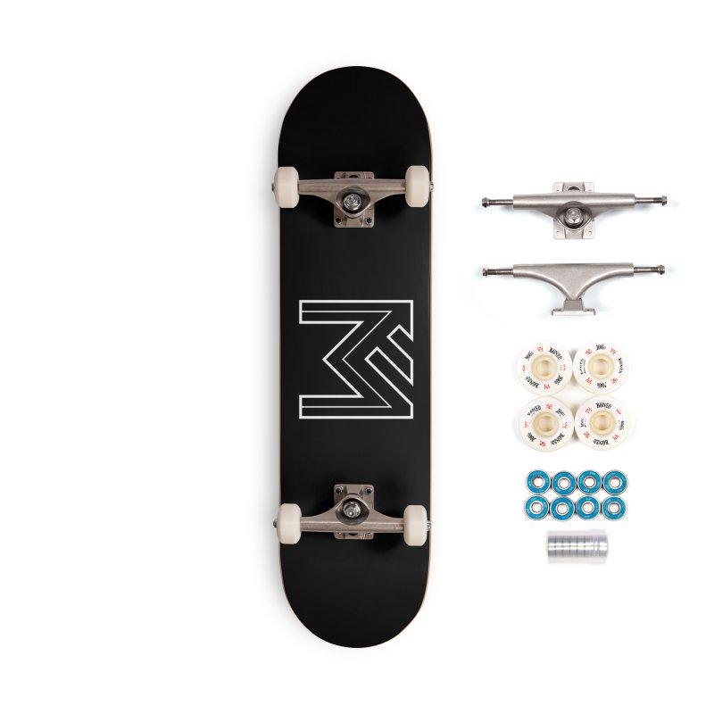White on Black Merlot Embargo Logo Accessories Complete - Premium Skateboard by MerlotEmbargo's Artist Shop