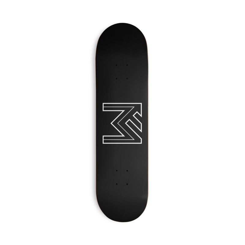 White on Black Merlot Embargo Logo Accessories Deck Only Skateboard by MerlotEmbargo's Artist Shop