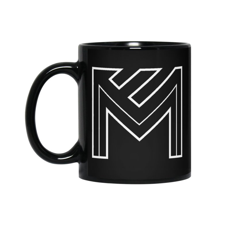 White on Black Merlot Embargo Logo Accessories Standard Mug by MerlotEmbargo's Artist Shop