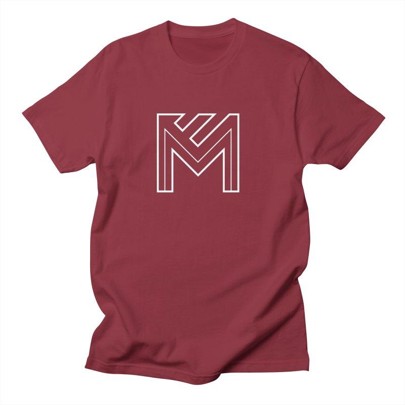 White on Black Merlot Embargo Logo Men's T-Shirt by MerlotEmbargo's Artist Shop