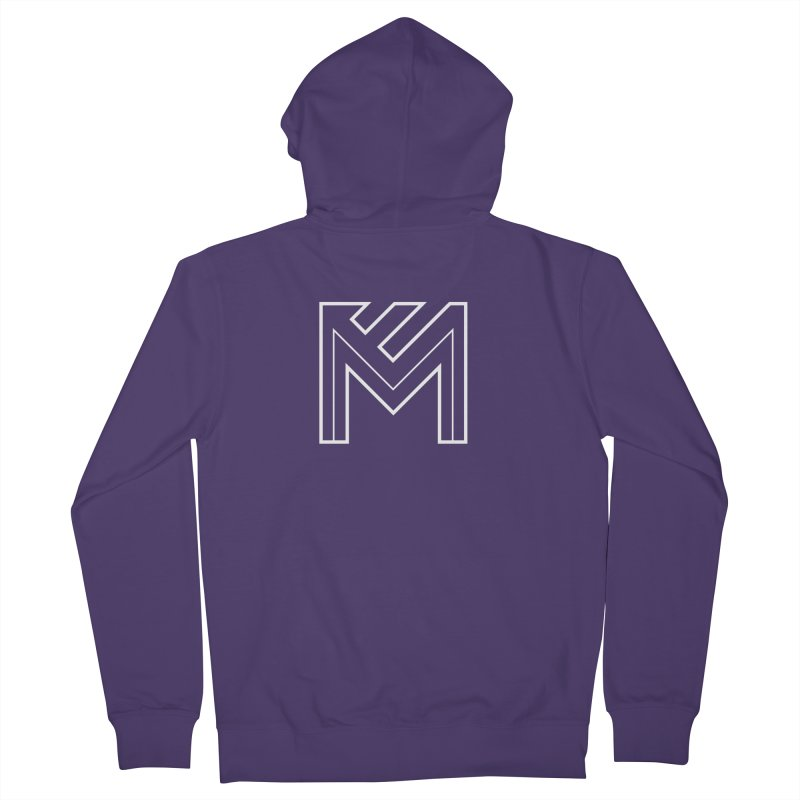 White on Black Merlot Embargo Logo Women's French Terry Zip-Up Hoody by MerlotEmbargo's Artist Shop