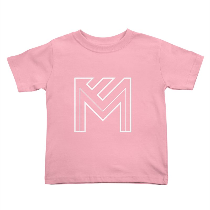 White on Black Merlot Embargo Logo Kids Toddler T-Shirt by MerlotEmbargo's Artist Shop