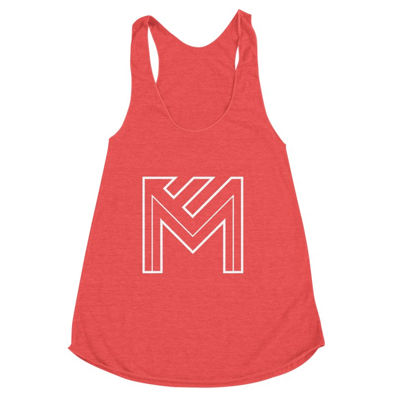 White on Black Merlot Embargo Logo Women's Tank by MerlotEmbargo's Artist Shop