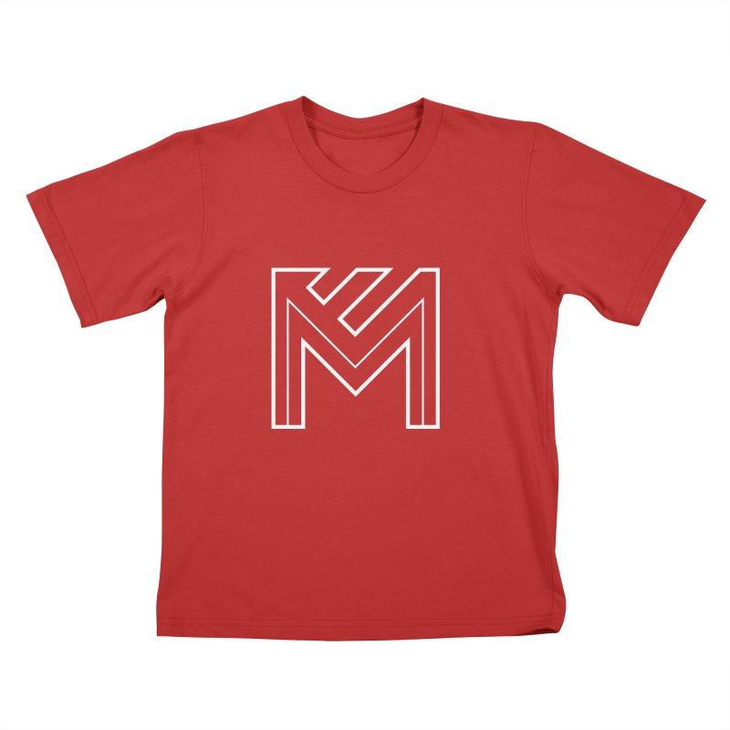 White on Black Merlot Embargo Logo Kids T-Shirt by MerlotEmbargo's Artist Shop