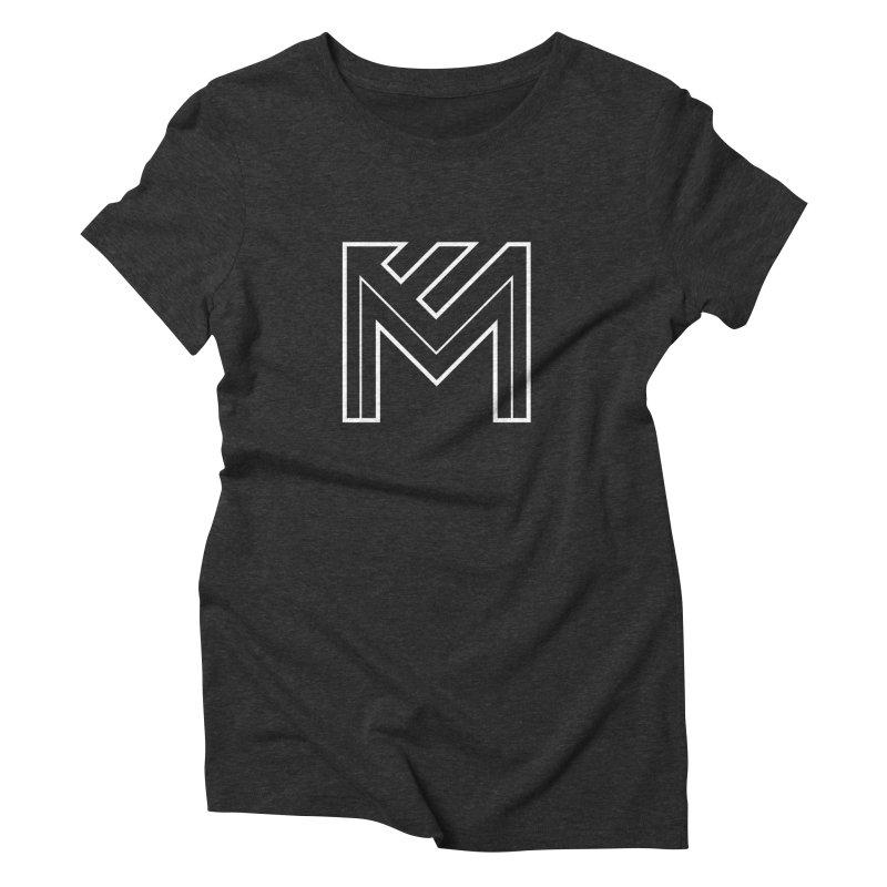 White on Black Merlot Embargo Logo Women's Triblend T-Shirt by MerlotEmbargo's Artist Shop
