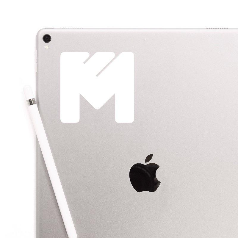 White on Black Merlot Embargo Logo Accessories Sticker by MerlotEmbargo's Artist Shop
