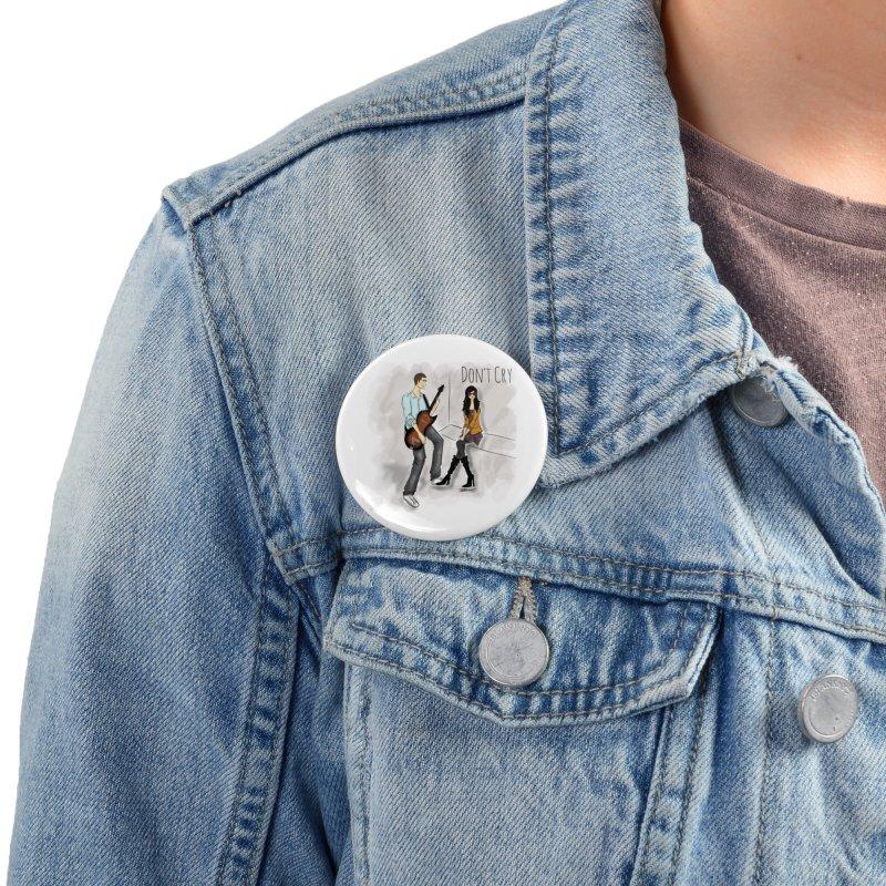 Don't Cry SamiaLynn Artwork Accessories Button by MerlotEmbargo's Artist Shop