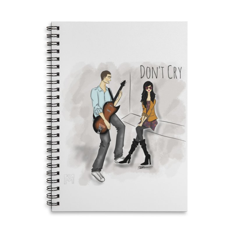 Don't Cry SamiaLynn Artwork Accessories Lined Spiral Notebook by MerlotEmbargo's Artist Shop