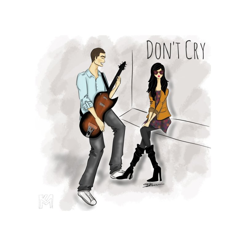 Don't Cry SamiaLynn Artwork Women's V-Neck by MerlotEmbargo's Artist Shop