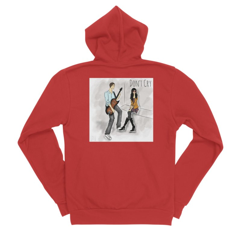 Don't Cry SamiaLynn Artwork Men's Zip-Up Hoody by MerlotEmbargo's Artist Shop