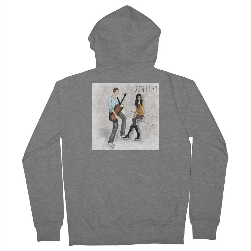 Don't Cry SamiaLynn Artwork Women's French Terry Zip-Up Hoody by MerlotEmbargo's Artist Shop