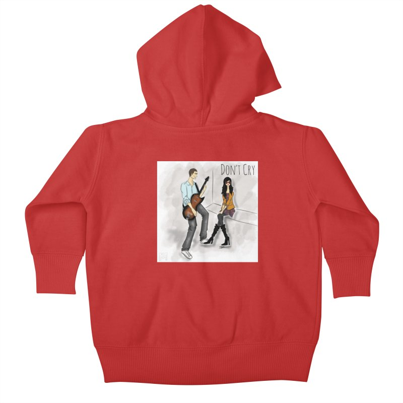 Don't Cry SamiaLynn Artwork Kids Baby Zip-Up Hoody by MerlotEmbargo's Artist Shop