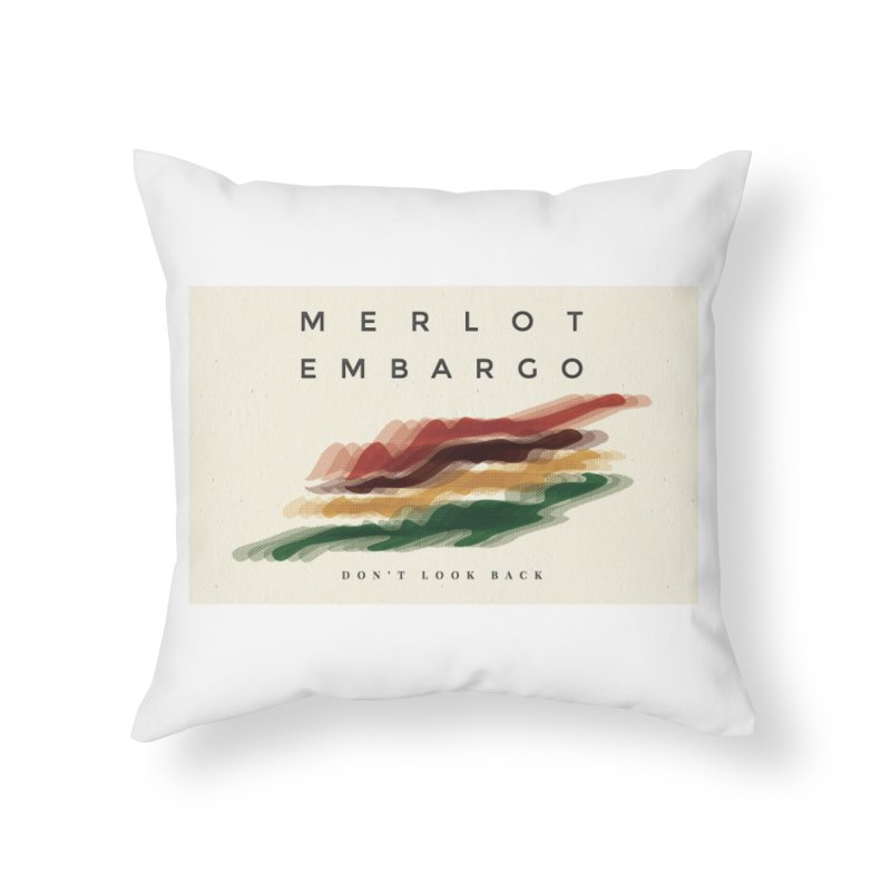 Don't Look Back Album Artwork Home Throw Pillow by MerlotEmbargo's Artist Shop