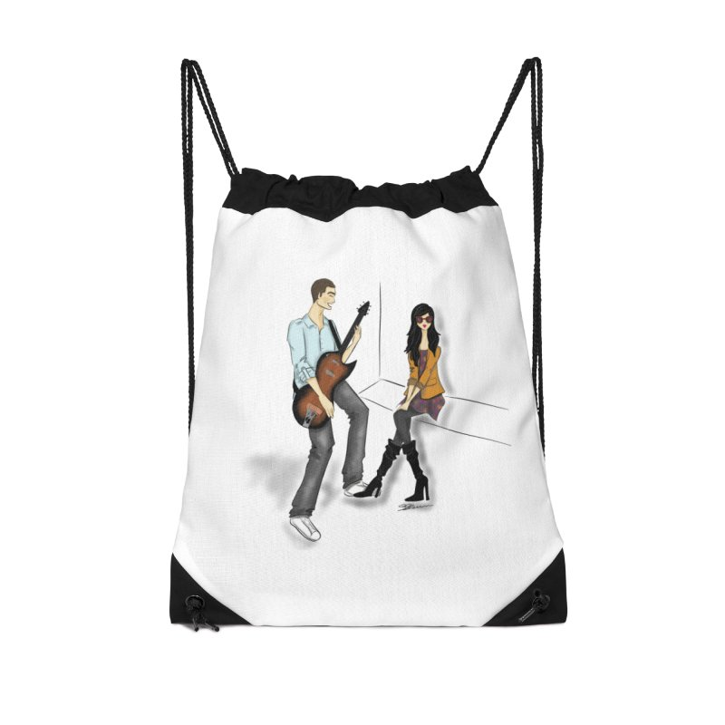 Duo - Artwork by SamiaLynn Accessories Drawstring Bag Bag by MerlotEmbargo's Artist Shop