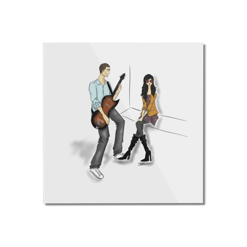 Duo - Artwork by SamiaLynn Home Mounted Acrylic Print by MerlotEmbargo's Artist Shop