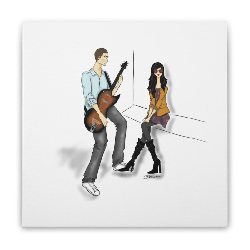 Duo - Artwork by SamiaLynn Home Stretched Canvas by MerlotEmbargo's Artist Shop