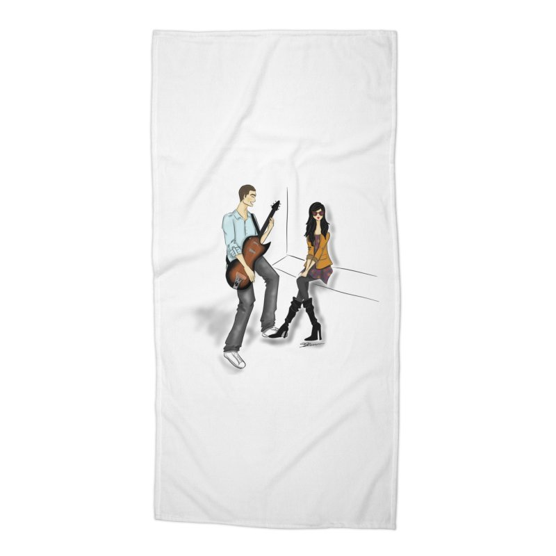 Duo - Artwork by SamiaLynn Accessories Beach Towel by MerlotEmbargo's Artist Shop