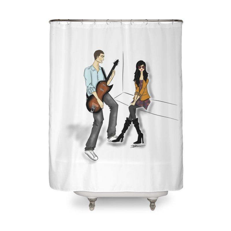 Duo - Artwork by SamiaLynn Home Shower Curtain by MerlotEmbargo's Artist Shop