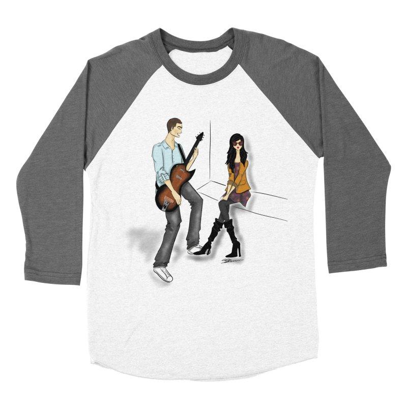 Duo - Artwork by SamiaLynn Men's Baseball Triblend Longsleeve T-Shirt by MerlotEmbargo's Artist Shop