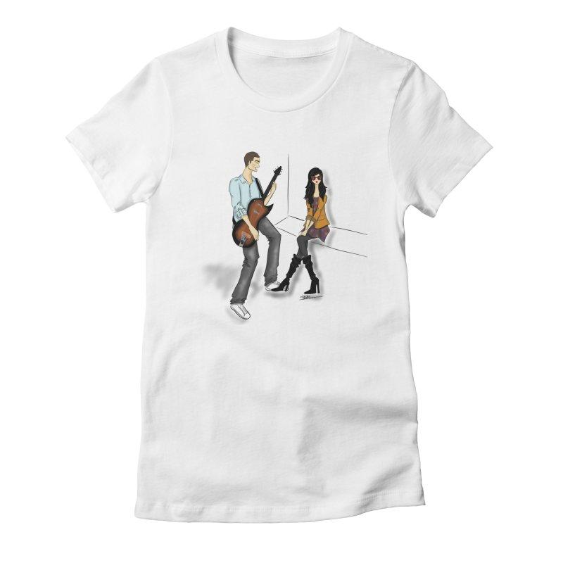 Duo - Artwork by SamiaLynn Women's T-Shirt by MerlotEmbargo's Artist Shop