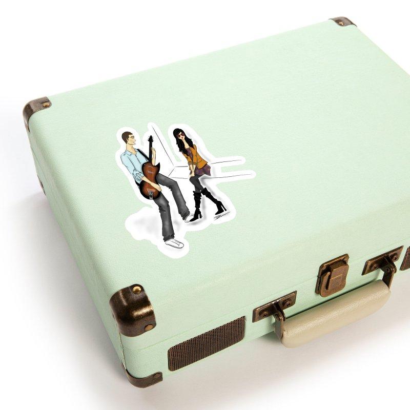 Duo - Artwork by SamiaLynn Accessories Sticker by MerlotEmbargo's Artist Shop