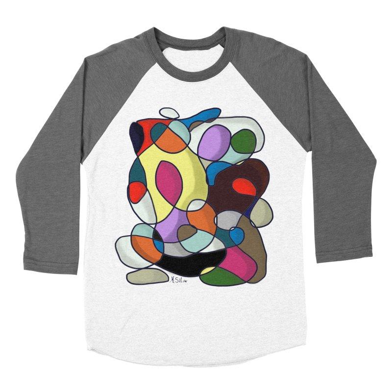Doodling Hey in Women's Baseball Triblend T-Shirt Tri-Grey Sleeves by Mfashionart's Artist Shop