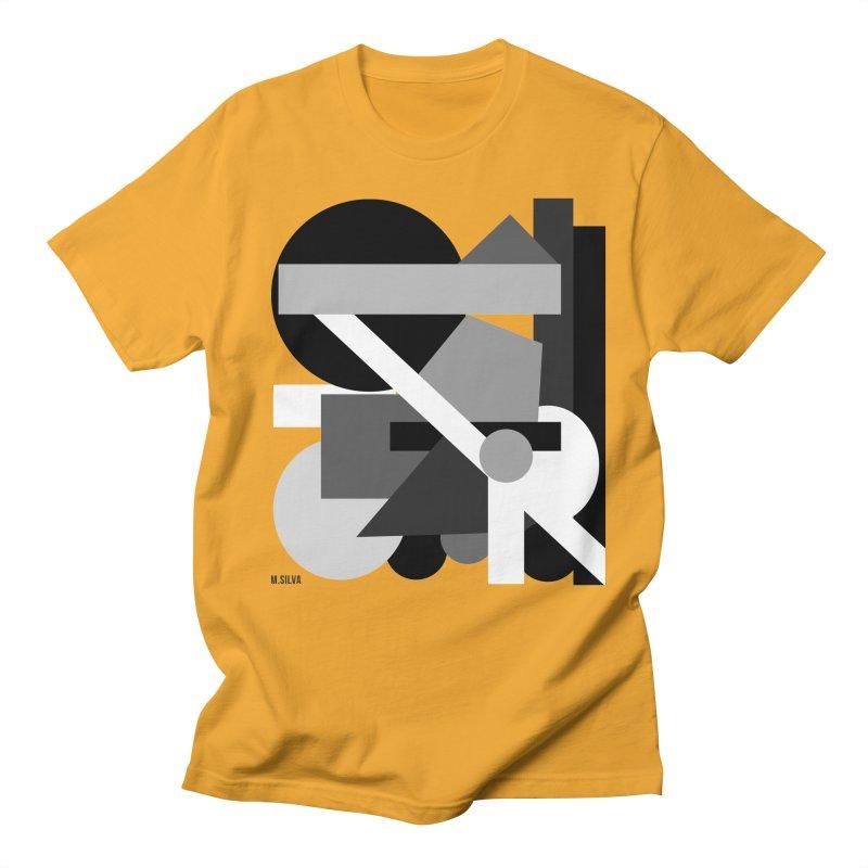 GeoMund BW in Women's Unisex T-Shirt Gold by Mfashionart's Artist Shop