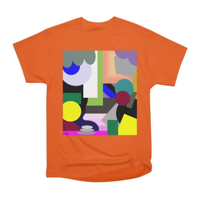 GeoMund X in Women's Classic Unisex T-Shirt Orange Poppy by Mfashionart's Artist Shop