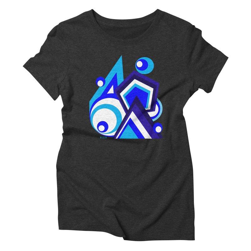 GeoMund B in Women's Triblend T-shirt Heather Onyx by Mfashionart's Artist Shop