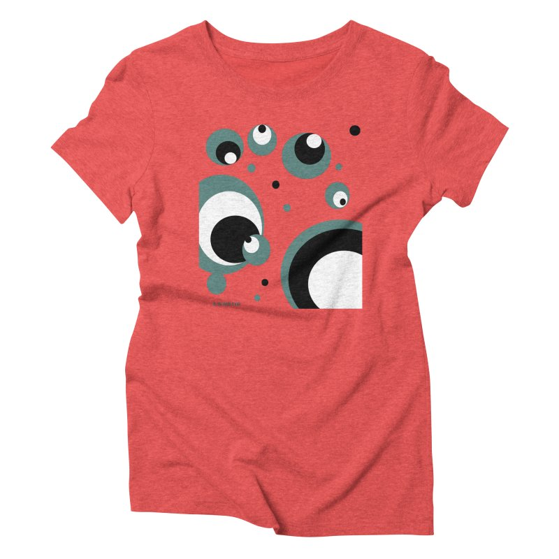 Bubble M in Women's Triblend T-shirt Chili Red by Mfashionart's Artist Shop