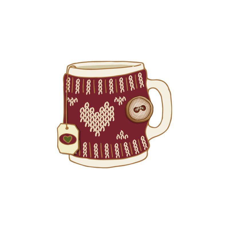 Cozy Mug - Snow Accessories Zip Pouch by MiaValdez's Artist Shop