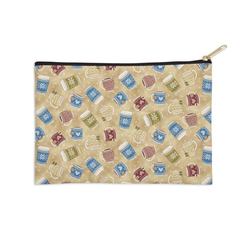 Cozy Mug - Macchiato Accessories Zip Pouch by MiaValdez's Artist Shop