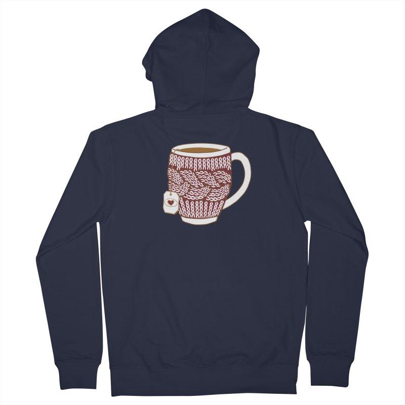 Cozy Red Mugs Women's Zip-Up Hoody by MiaValdez's Artist Shop